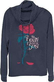 Beauty and The Beast Juniors' Rose Petal Logo Cowl Neck Sweatshirt