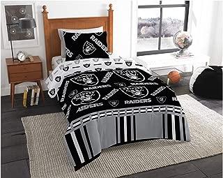 Oakland Raiders NFL Twin Comforter & Sheet Set (4 Piece Bed in A Bag) + Homemade Wax Melts