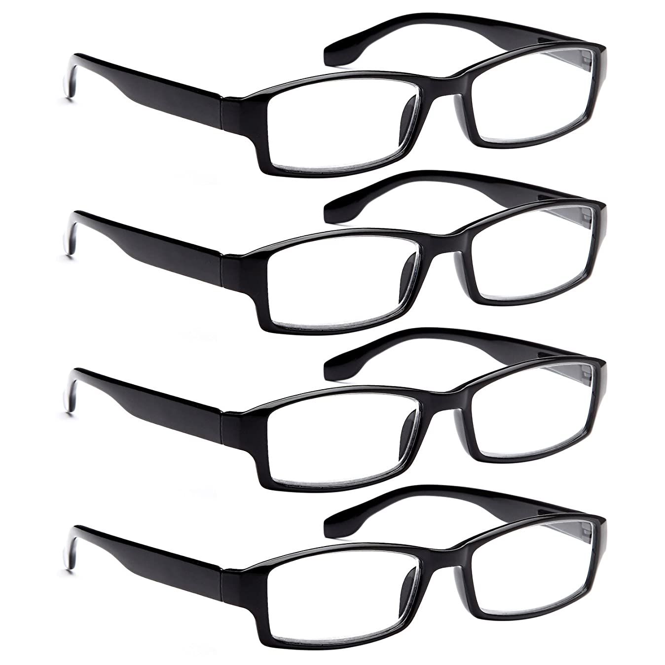 ALTEC Vision Reading Glasses - 4 Pairs Spring Hinge Men and Women Readers 1.25 c3492599624