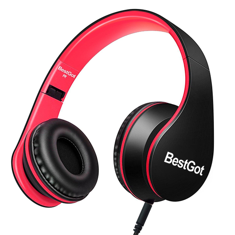 BestGot Headphones Microphone Foldable Removable