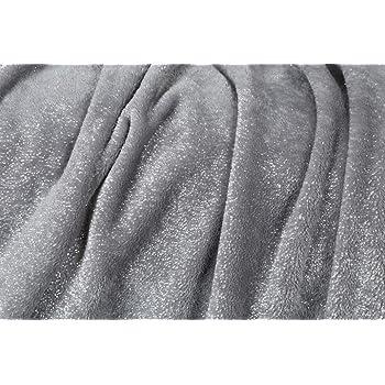 Kanguru Plaid GLITTER MOON coperta in soffice pile con paillettes argentate, dimensioni 130x170cm, calda ed elegante., 8 Unità