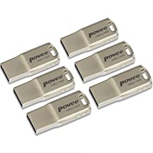 16GB USB 2.0 Flash Drive-6 Pack MLC Flash Metal USB2.0 Speed Thumb Pen Drive Disk Memory Stick