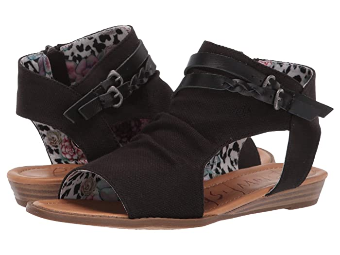 Blowfish  Blumoon (Black Rancher Canvas) Womens Sandals