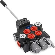 Mophorn Hydraulic Valve 2 Spool Hydraulic Joystick Control Valve 11gpm Double Acting Cylinder Spool Bsp