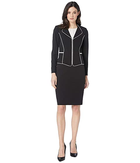 da93f6ae5269 Tahari by ASL Nested Skirt Suit with Piping Trim at 6pm