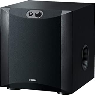 Yamaha Subwoofer Speaker with 130W Output Power, Twisted Flare Port - NSSW200B (Black)