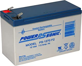 Powersonic PS-1270F2 - 12 Volt/7 Amp Hour Sealed Lead Acid Battery with 0.250 Fast-on Connector