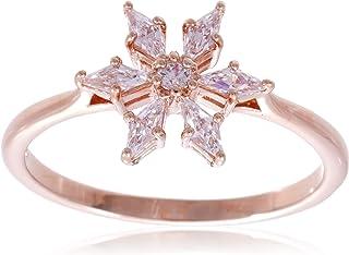 Swarovski Magic Ring Set White, Rose-gold tone plated