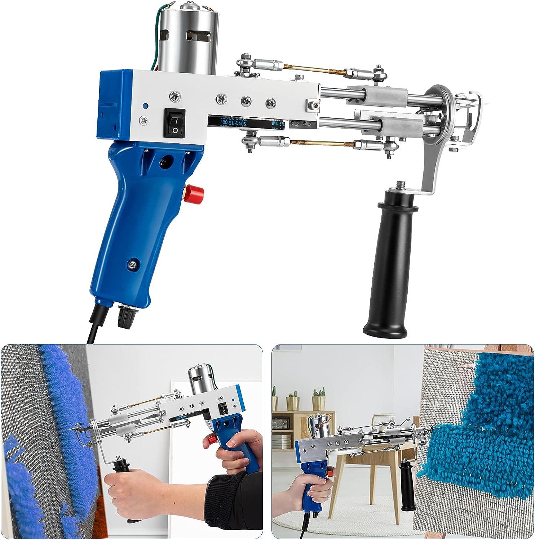 Pistola eléctrica de alfombras 4-14 mm,TELAM tufting Gun cut pile de pelo en bucle Máquinas de tejido de alfombras Máquina de tejer de mano para Hacer alfombras 110 V-220 V (cut pile)