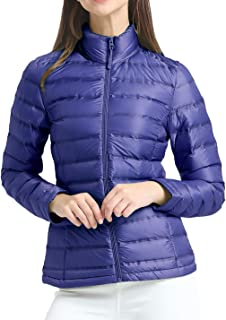 Women's Down Jacket Packable Ultralight Warm Ladies Puffer Down Quilted Winter Jacket