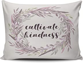 ONGING Decorative Pillowcases Lilac Lavender and Mauve Cultivate Kindness Customizable Cushion Rectangle Boudoir Size 12x16 inch Throw Pillow Cover Case Hidden Zipper One Side Design Printed