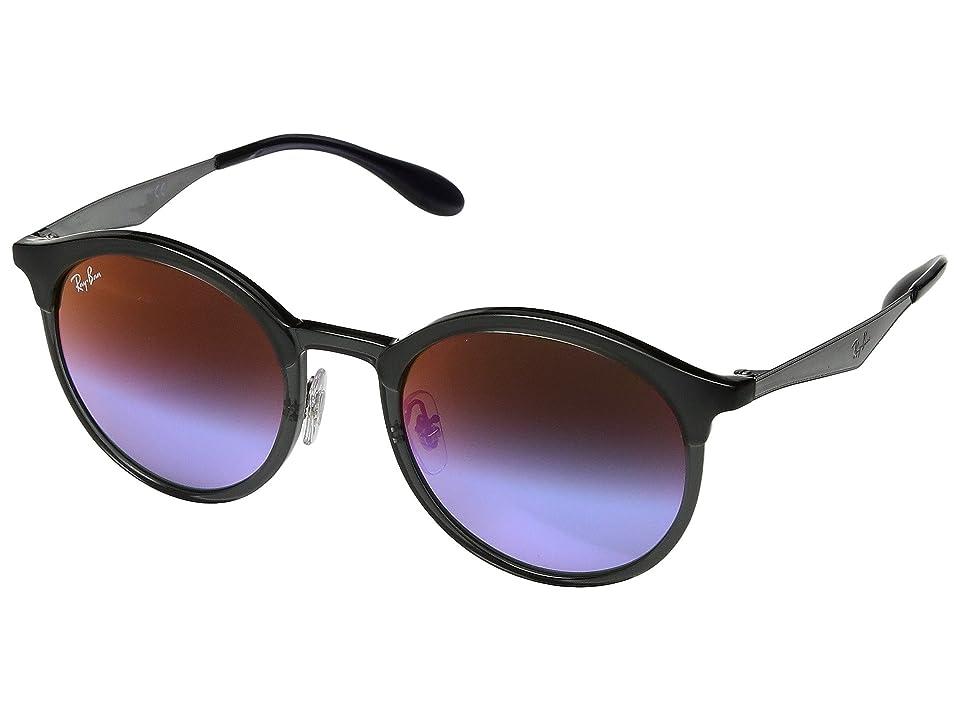 Ray-Ban RB4277 Emma 51mm (Grey/Blue Gradient Mirror) Fashion Sunglasses