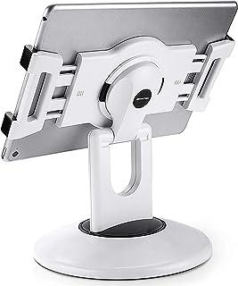 ipad レジ スタンド AboveTEK タブレット スタンド 360度回転 180°角度調整可能 iPad用(2つのサイズのブラケットが付属) ,卓上縦置きスタンド, タブレット置き台, ポータブル デスク台, 立てる, 対応6~13.5イ...