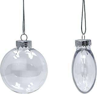 clear flat glass christmas ornaments