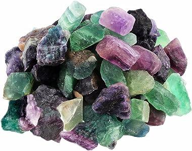 rockcloud 1 lb Natural Crystals Raw Rough Stones for Cabbing,Tumbling,Cutting,Lapidary,Polishing,Reiki Crytsal Healing,Fluori