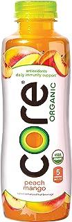 CORE Organic, Peach Mango, 18 Fl Oz (Pack of 12), Fruit Infused Beverage, Vegan/Gluten-Free, Non-GMO, Refreshing Flavored ...