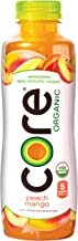 CORE Organic, Peach Mango, 18 Fl Oz (Pack of 12), Fruit Infused Beverage, Vegan/Gluten-Free, Non-GMO, Refreshing Flavored Water with Antioxidants, Great For Immunity Support, CLEAR