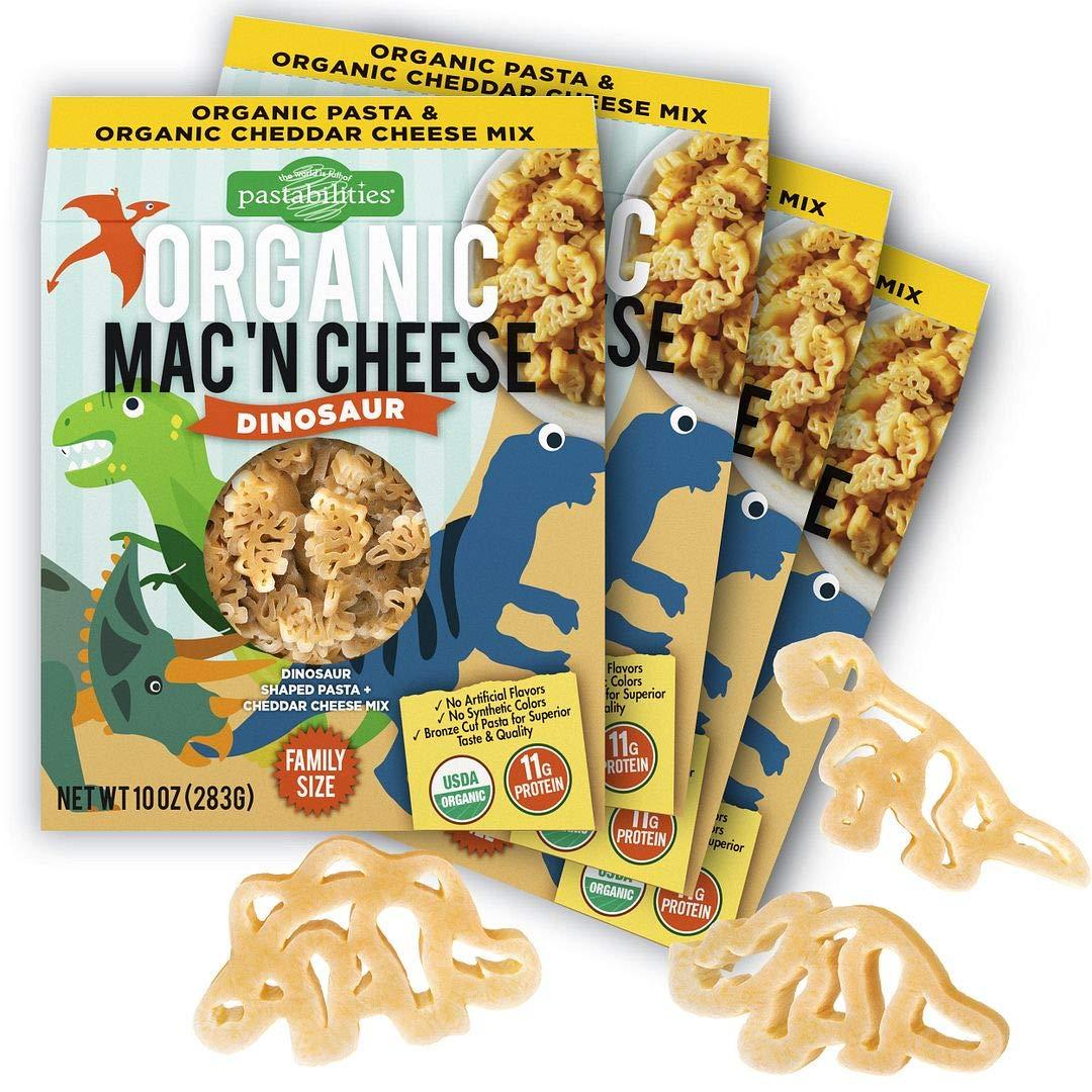 Pastabilities Organic Kids Dinosaur Shaped Mac Cheese Max 44% OFF and Brand Cheap Sale Venue P Fun