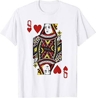 Queen of Hearts Playing Card Matching Couples Costume T-Shirt