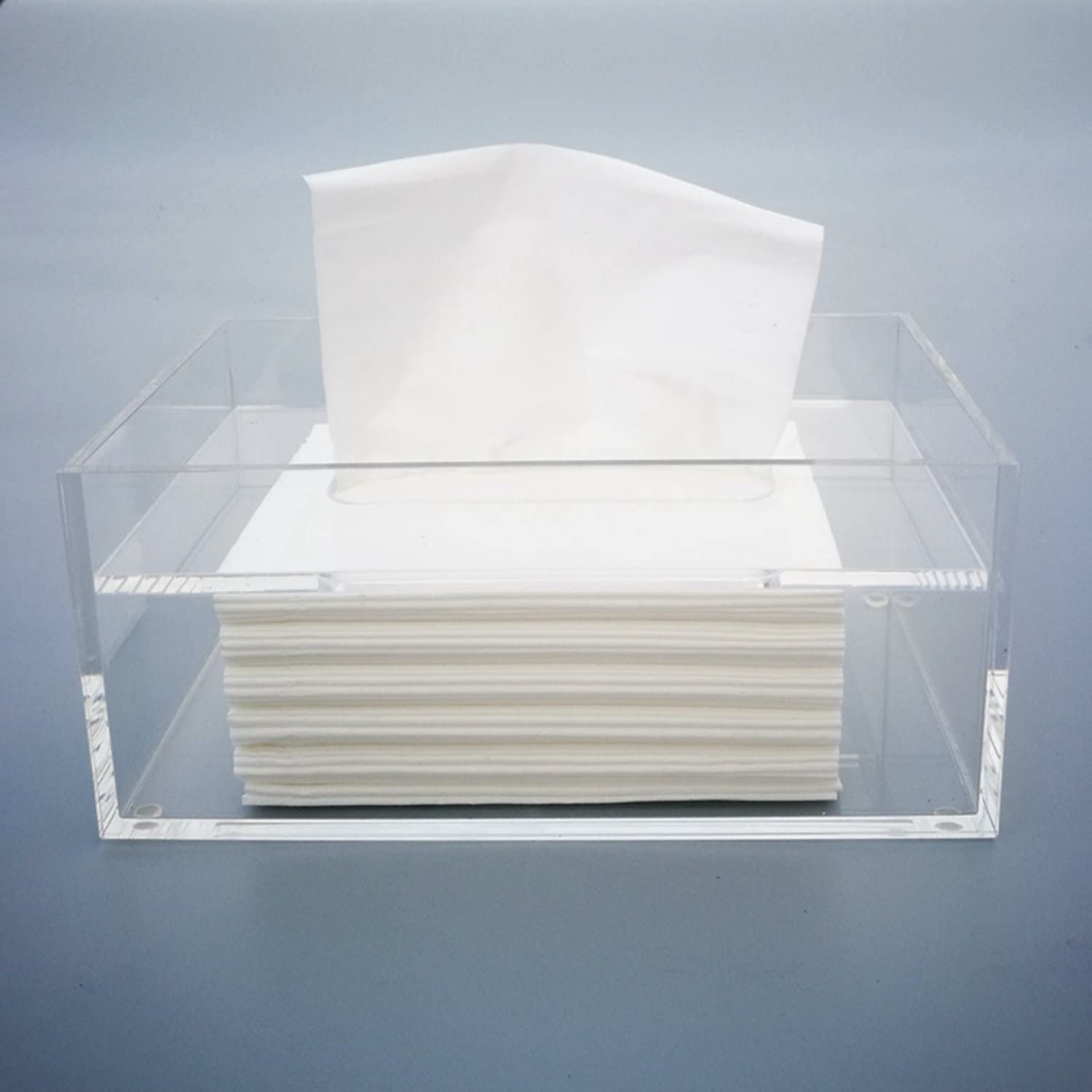 MYES Tissue Box Limited Special Price Manufacturer regenerated product Holder Napkin Acrylic Dispenser Clear Rectangle