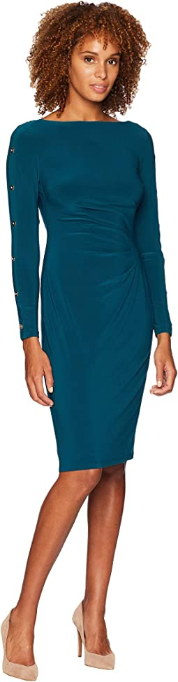 Matte Jersey Sagie Long Sleeve Day Dress