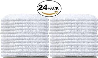 Bare Cotton #1 White Wash Cloths, 100% Natural Cotton, 12 x 12, Commercial Grade, 24-Pack