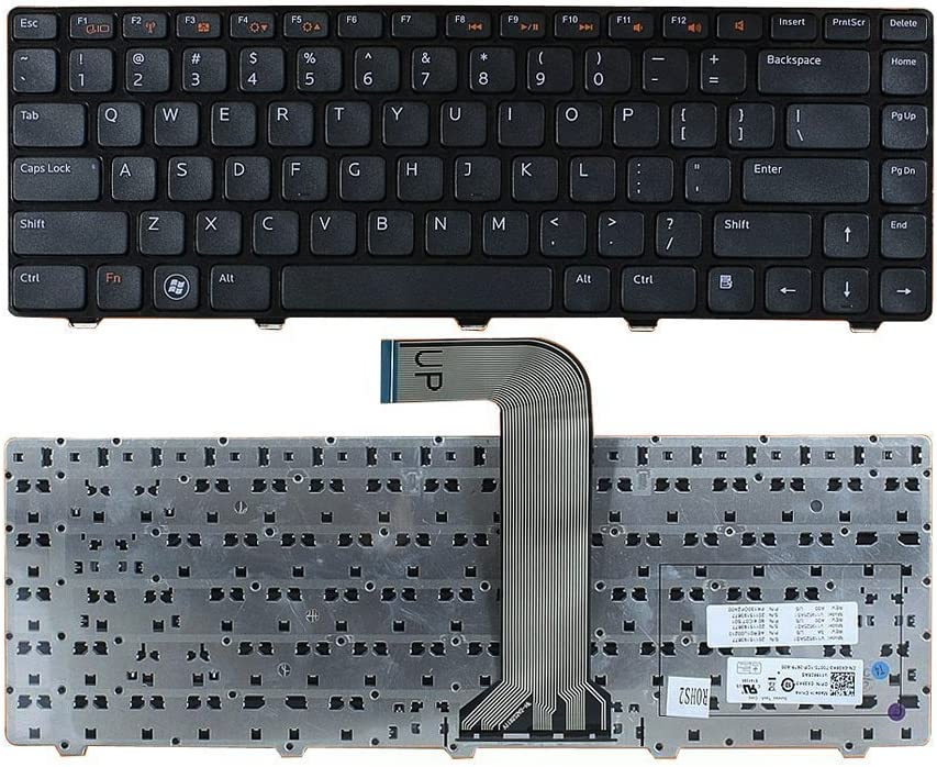 New US Black Keyboard Replacement for Dell Inspiron N4050 N4110 3520 XPS 15 L502X M5040 N5050 N5040 M521R 14 (N4050) 15 (N5040) 14R SE 7420
