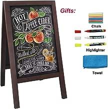 HUAZI A Frame Chalkboard Blackboard Sidewalk Sign 40 x 20 inches Sandwich Board Promotion Menu Display with Liquid & Solid Chalk for Business Wedding Restaurant Party Cafe