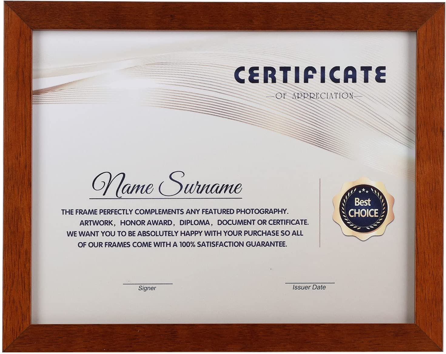 8.5 x11 Bachelor Diploma Solid Albuquerque Mall Non- Finally resale start Frame Certificate Photo Wood
