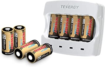 Arlo Certified: Tenergy 3.7V Arlo Battery Fast Charger and 650mAh Rechargeable Batteries for Arlo Wireless Security Cameras (VMC3030/VMK3200/VMS3330/3430/3530),UL UN Certified, 8-Pack