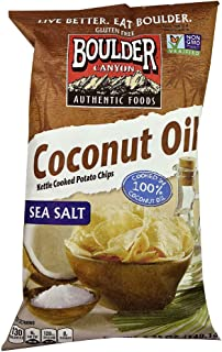 Boulder Canyon Coconut Oil Kettle Cooked Potato Chips Sea Salt -- 5.25 oz (Pack of 2)