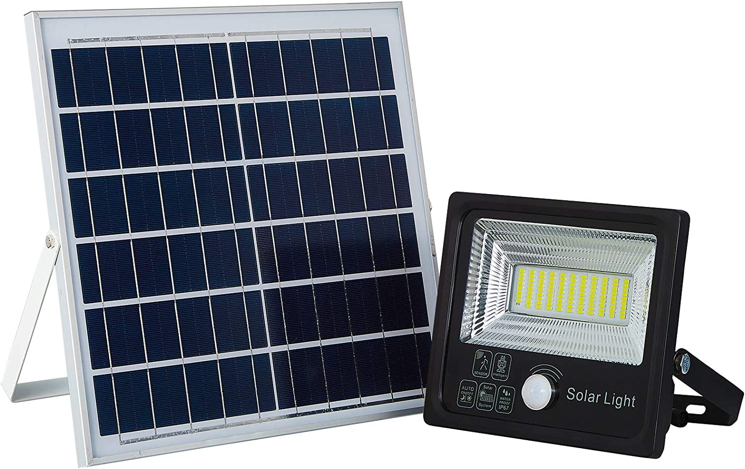 Solar Large special price !! Flood Lights Led Remote Dusk to Fresno Mall Dawn S