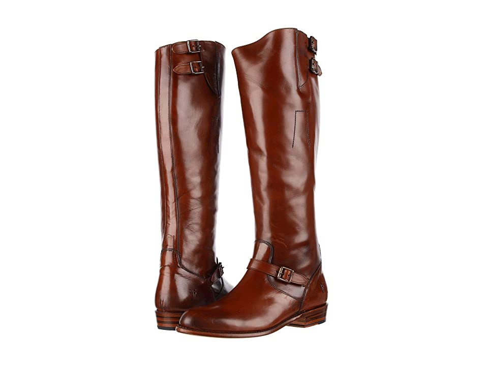 Frye Dorado Buckle Riding (Whiskey Smooth Polished Veg) Women