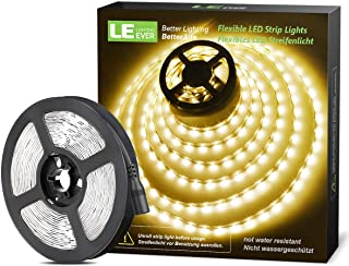 LE 16.4ft Flexible LED Strip Lights, 300 Units 3528 LEDs, Non-Waterproof, LED Tape, DIY Christmas Holiday Indoor Party Hom...