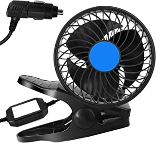 2020 New Car Fan, Newest Portable 12V Mini Electric Car Fan, Adjustable Vehicle Cooling Fan ,with Adjustable Clip & Cigare...