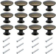 BETOY 12 stuks meubelgrepen, vintage, rond, punt, enkele gat, koperen handgreep, kast, lade, deurgreep, stanggreep, keuken...