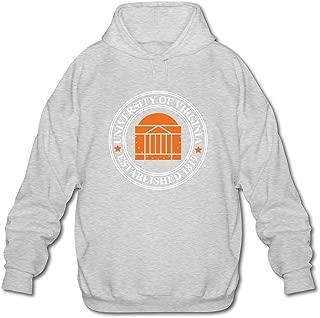 FZLB Men's University Of Virginia Established 1819 Long Sleeve Hooded Sweatshirt Black