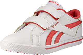 Reebok Girls Royal Complete Sneaker, Core-White/Bright Rose