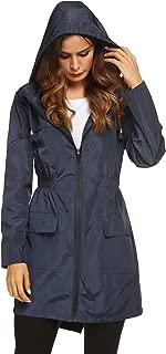 Women Waterproof Lightweight Rain Jacket Active Outdoor Hooded Raincoat