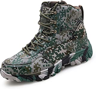 PULUSI Hombres Zapatos de Combate - Botas tácticas del Ejército del Desierto Solider Militar al aire libre senderismo bota...