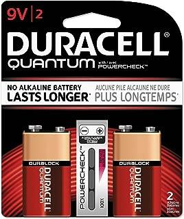 Duracell Quantum 9V Alkaline Batteries (2 Pack) w/ Powercheck