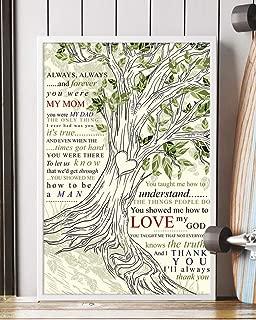 Mattata Decor Thank You Mom Song Lyrics Tree love Portrait Poster Print (16