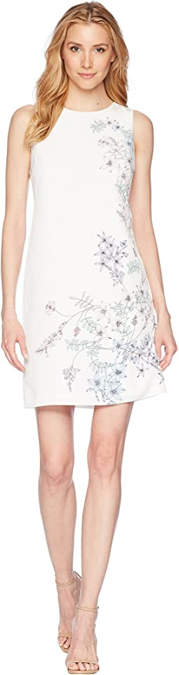 Vince Camuto - Sleeveless Botanical Floral Printed Shift Dress