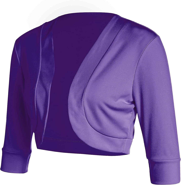 Women's Short Sleeve Shrug Open Front Cotton Cardigan Bolero Jacket Summer Casual Clothes