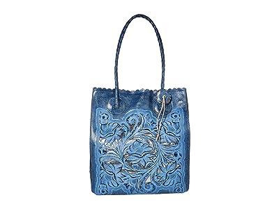 Patricia Nash Cavo Tote (Safflower Blue) Tote Handbags