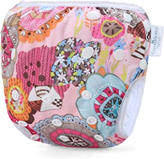 storeofbaby Baby Reusable Swim Diaper Washable Pool Pants Swimwear for 8-36lbs Boys Girls