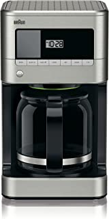 Braun KF7070 BrewSense Drip Glass Coffeemaker, 12 Cup, Stainless Steel