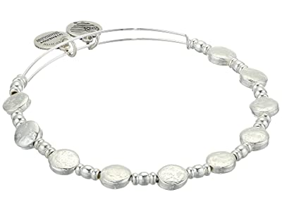 Alex and Ani Coin Charm Bangle (Shiny Silver) Bracelet