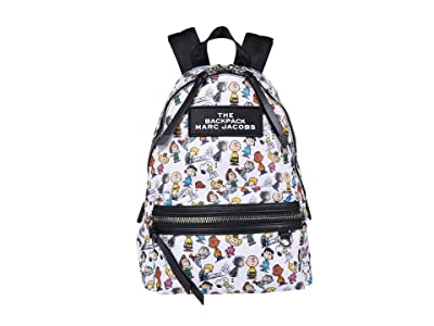 Marc Jacobs The Backpack Peanuts (White Multi) Backpack Bags