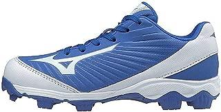 Mizuno (MIZD9 Boys' 9-Spike Advanced Franchise 9 Molded Youth Baseball Cleat-Low Shoe, Royal/White, 3 US Big Kid